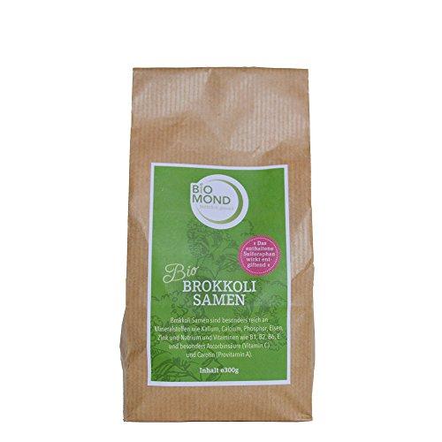 BIO Brokkoli Brokkoletti Samen Keimsprossen Keimsaat BIOMOND / 300 g/zur Sprossenaufzucht/zum Keimen/hoher Sulforaphan-Gehalt/auch ganz zu verwenden