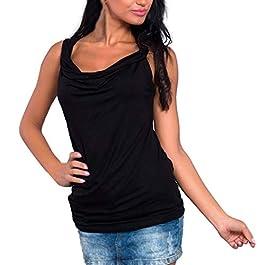 298f32d4b8f0 ... donna maglietta sexy… Dettagli e Acquista · HCFKJ Camicetta delle  Camicie delle Camicie della Maglietta Solida Senza Maniche con Scollo a V  Maniche ...