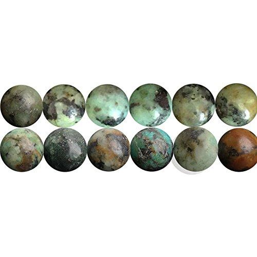 SKYBEADS Naturali Pietre Preziose Perline per Collane Braccialetti Gioielli Turchese Africa Tonde 6mm Circa 38cm un Filo 60 Perline