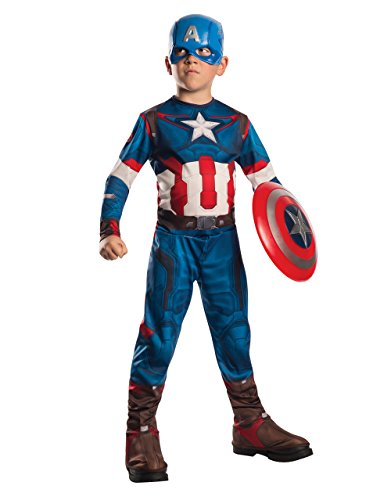 Kinder Kostüm Captain America, the Avengers Age Of Ultron Set, Medium, Alter 5-7, Höhe 4'5.08 cm - 4'15.24 (Ultron Captain Kostüm America)