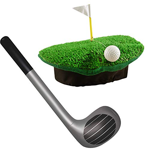 German Trendseller® Golfer - Woods - Kostüm Eagle Set - Deluxe ┃ Umbrella Hut + Golfschläger One ┃ Golfer Set (Deluxe Elvis Kostüm)