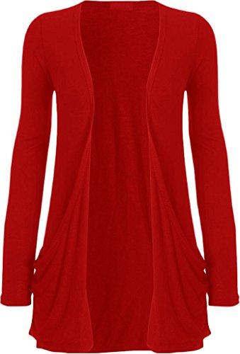 Islander Fashions - Gilet - Femme Rouge