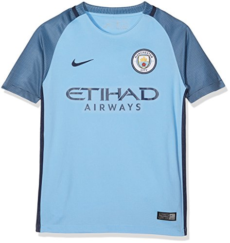 Nike Manchester City Yth Ss Hm Stadium Jsy, Camiseta de manga corta para niños, Azul (Field Blue / Midnight Navy / Midnight Navy), XS