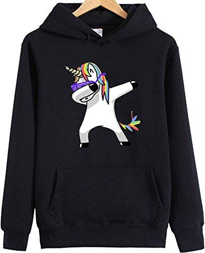 Leslady Unicornio Mujer Sudadera con Capucha Adorable Unicornio