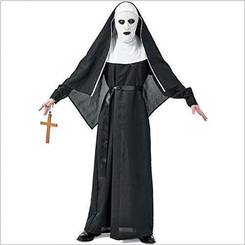 Kostüm Baby Schrecklich - ERFD&GRF Frauen schreckliche Nonne Kostüm Schwester Cosplay Kostüm Zombie Ghost Hexe Kostüme Halloween Unisex Vampire Demon Kostüme, L
