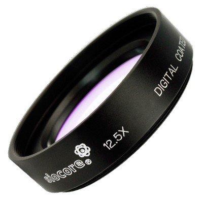 Siocore +12,5 Bonnette macro 52 mm pour caméscopes, appareils photos et objectifs Canon / Nikon / Sony / Panasonic / Olympus / Pentax, avec un filtre Ø 52 mm-