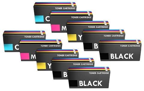 Prestige Cartridge Cartouche de Toner pour Canon i-SENSYS MF - 8330CDN, MF - 8340CDN, MF - 8350CDN, MF - 8360CDN, MF - 8380CDW, MF - 8540CDN, MF - 8550CDN, MF - 8580CDW, LBP - 7200, LBP - 7200CDN, LBP - 7210CDN, LBP - 7680CX, LBP - 7660CDN, HP Colour LaserJet CM2320 CM2320n, CM2320fxi CM2320dn CM2320nf CP2020 CP2020d, CP2020dn CP2020fxi CP2020nf CP2025, CP2025fxi CP2025dn CP2025n CP2025nf CP2025, x, imprimantes 10 coloris assortis