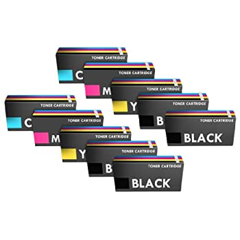 Set of 10 Compatible High Yield Laser Toner Cartridges for CE250X-CE253A Series - TWO SETS PLUS TWO BLACKS
