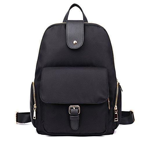 Doppio in nylon borse tracolla borse donna selvaggia minimalista nello zaino tela impermeabile Oxford viaggio di piacere nello zaino gli studenti alle spalle il pacchetto B A