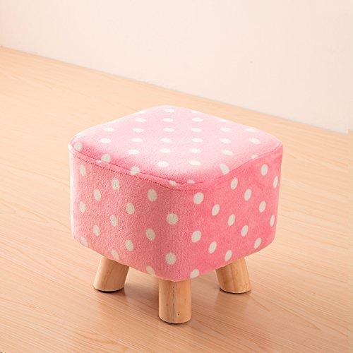 Dana Carrie Bois massif sur un tabouret bas pour des chaussures est à la mode de porter des chaussures qui partie créative tissus chaise fauteuil table basse tabouret accueil banc, rose point blanc