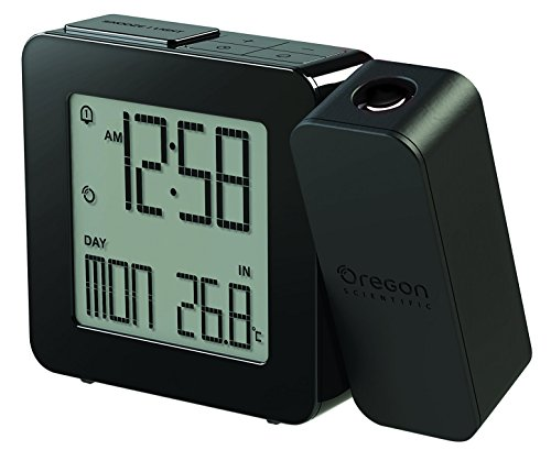 Oregon Scientific RM-338-P - Reloj proyector con temperatura interior, color negro