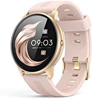 ساعة ذكية من اجبتيك للرجال والنساء بشاشة لمس بمقاس 1.3 بوصة، ملائمة لتعقب اللياقة البدنية ومزودة بمتتبع لمعدل