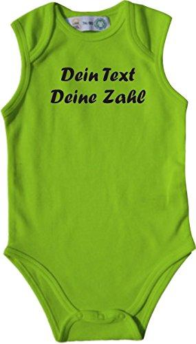 ShirtInStyle Babybody mit deinem Wunschdruck veredelt, Farbe lime, Größe 50-56