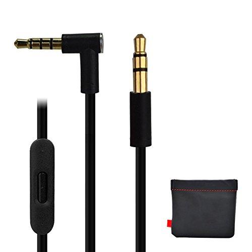 Remplacement de câble/Fil pour Beats câble audio + Télécommande/Micro pour Beats by Dr. Dre Casque Solohd/Studio/Pro/Detox/sans fil Noir