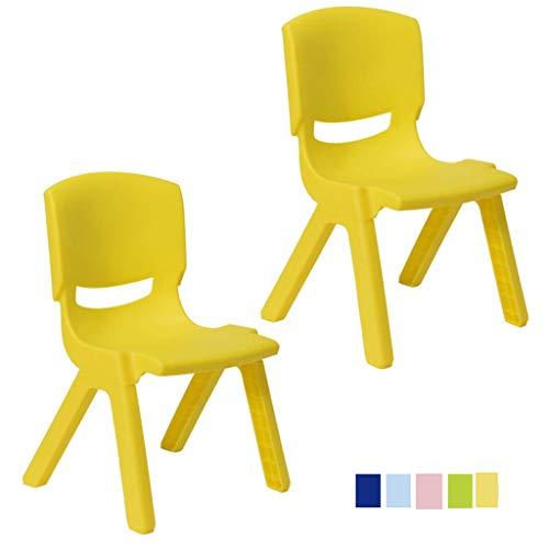 Yushesen Silla de plástico para Estudiantes, Silla para niños, de plástico, apilable,...