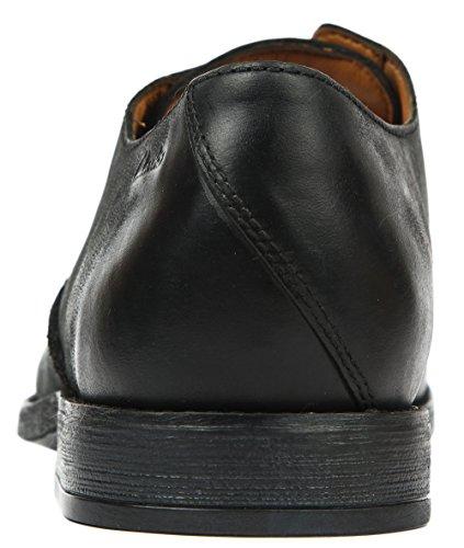 Clarks Novato Plain, Chaussures de ville homme Noir (Black Leather)
