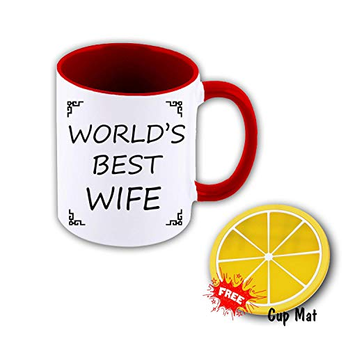 TK.DILIGARM World'S Best Wife Coffee Mugs in Gift