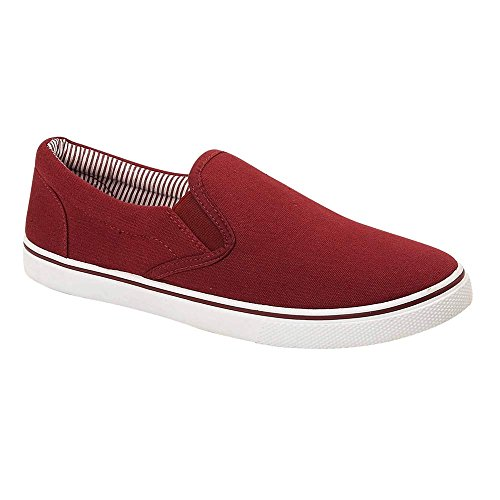 Footwear Sensation - Mocasines de sintético para hombre, color rojo, talla 12 UK / 46 EU