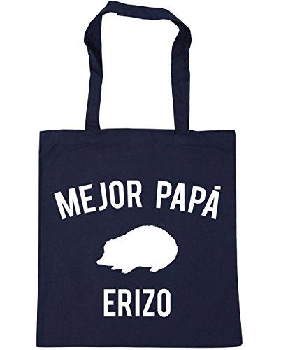 hippowarehouse-mejor-papa-erizo-bolso-de-playa-bolsa-compra-con-asas-para-gimnasio-42cm-x-38cm-10-li