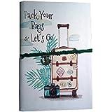 Goonj Creations Handmade Diary Travel Print ( 20.32 X 13.97 cm)