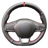 ZYFXT Für Hand Nähen Auto Lenkradbezug Für Renault Kadjar Koleos Megane Talisman Scenic 2016 2017 Volant Braid Auf Lenkrad,Red