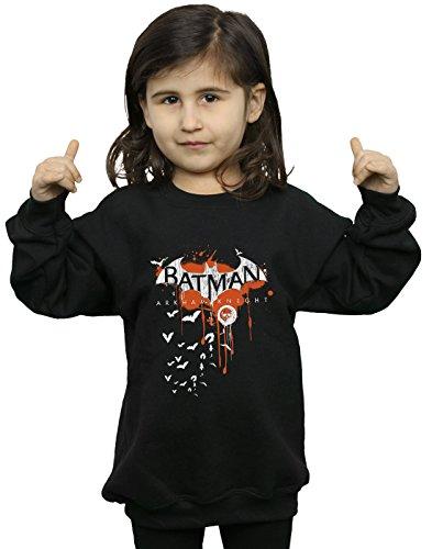 DC Comics niñas Batman Arkham Knight Halloween Logo Art Camisa De Entrenamiento 5-6 Years Negro