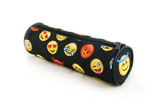 Estuches plumier la tuba caja de lápices ronda multicolor Emoji Black [025]