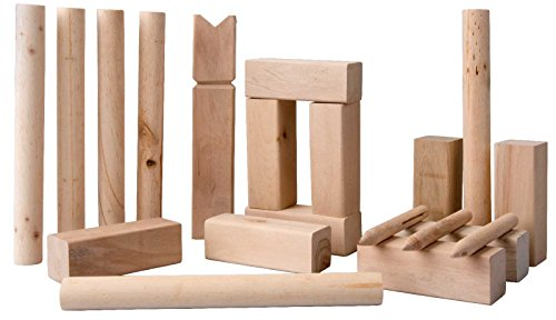 SIDCO–KUBB-Wikingerspiel-Garten-Schach-Wurfspiel-Rasenschach-Partyspiel-Stckchenspiel