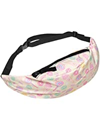 A : VENMO Women Bum Bag Fanny Pack For Running Sports Festival Colorful Ladies Waist Belt Bag Money Change Pouch...