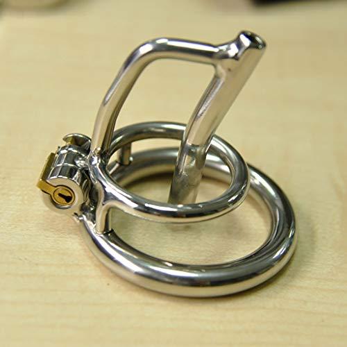 T-Day Keuschheitsgürtel Keuschheits-Käfig, Edelstahl-Keuschheits-Verschluss Cb6000 Hosen-Gurt-Gerät gebogenen Ring A279