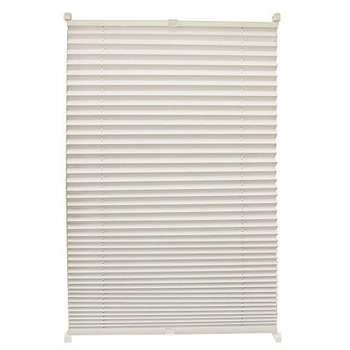 Hengmei 80x200cm tenda plissettata oscurante persiana avvolgibile klemmfix montaggio senza forature per la finestra, beige