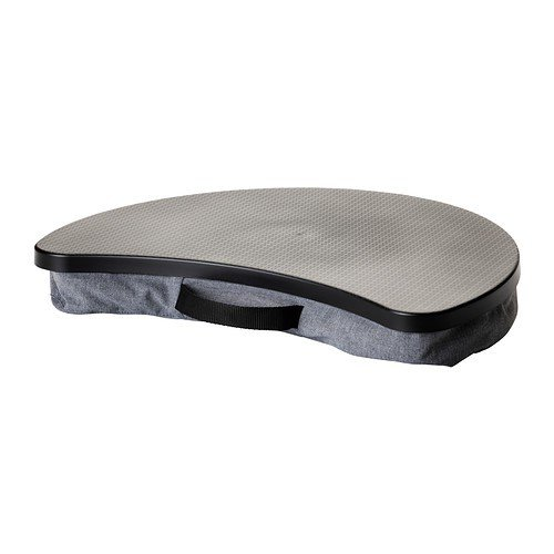 IKEA BYLLANCoussin pour ordinateur portable Coussin gris, tablette noir