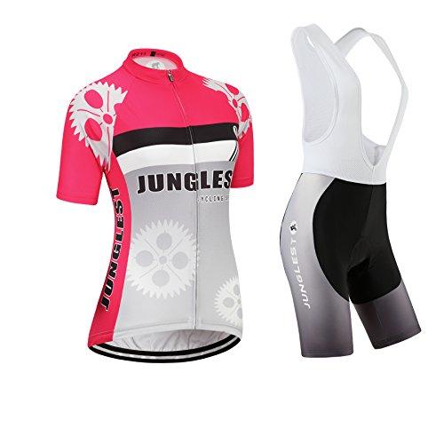 [3D Sitzpolster][Typ:Anzüge[Weiß Trägerhose] Größe:M] elastisches Outdoor Leichtes Anzüge Leistung Kurzarm Ärmel Neue Damen Fahrradtrikot Kurze Gewebe atmungsaktive Schweiß Windjacke