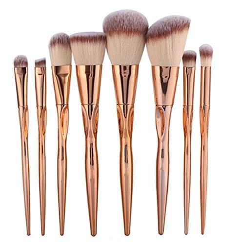 FAHIO Pinceaux À Maquillage Kit De Pinceaux Maquillage en Métal pour Fond De Teint Cosmétique pour Fond De Teint Énergétique
