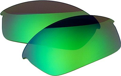 Ersatz-Objektive für Oakley Flak Jacket Sonnenbrille, Green Mirror Polarized