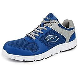 Lotto Women's Sancia Grey / Blue Running Shoes - 6 UK/India (40 EU)