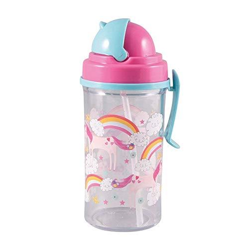 Floss & Rock Flip Straw Water Bottle - Fairy Unicorn