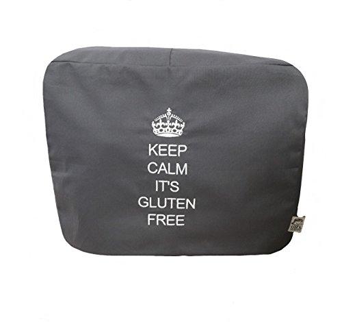 Cozycoverup Staubschutz für Küchenmischer, Anthrazit, Keep Calm It's Glutenfrei (Kitchenaid Mini)
