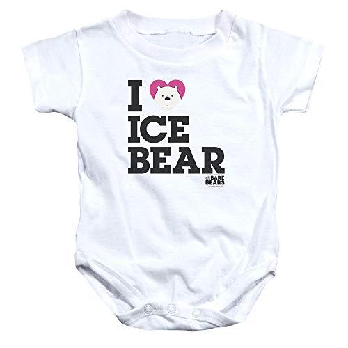 We Bare Bears - - Onesie Ice Bear pour Enfant en Bas âge, 6 Months, White