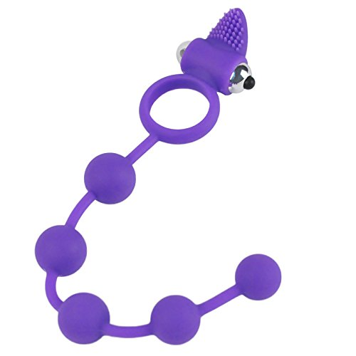 Tracy's Dog Analkette Anal Beads mit Cockring Vibrator Analkette Analkugeln mit Vibration