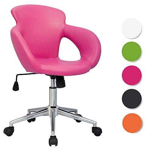 SixBros. Design Rollhocker Arbeitshocker Hocker Bürostuhl Pink M-65335-1/1305