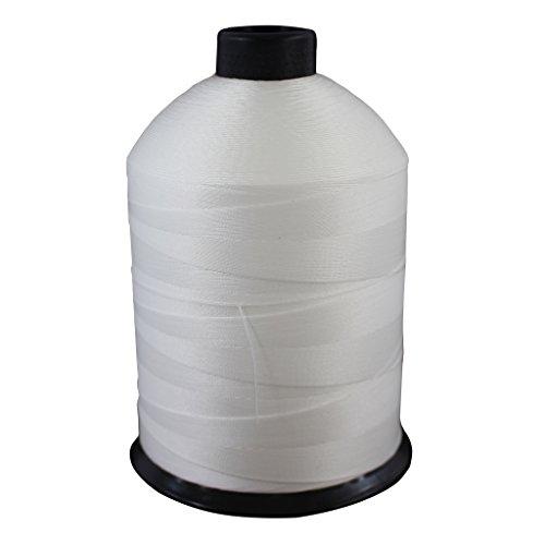Nylon-Garn Nr. 69 - SGT Knots - Milspec - Allzweck-Nähgarn - für Ledernähte, Leinen- und Kleidungsreparatur, Polster, Pferdesättel und mehr (454 g) Spule) (Schwarz oder Weiß) #69-16oz Spool weiß