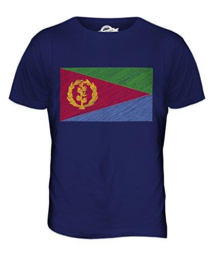 CandyMix Eritrea Kritzelte Flagge Herren T Shirt Navy Blau