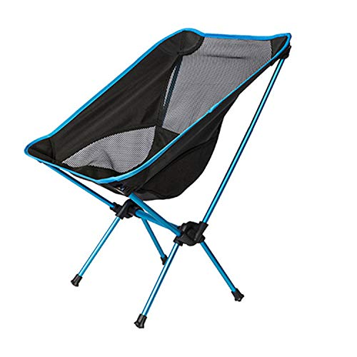 YANGLAN Tragbarer Klappstuhl, Outdoor Fishing Moon Chair, Grill/Sketch Chair Recliner, Camping/Beach Aluminium Chair -