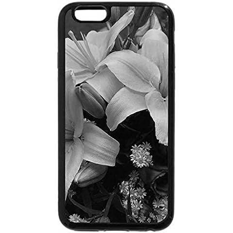 iPhone 6S Plus Funda, iPhone 6Plus (Blanco y Negro)–Ramo de Floral, color amarillo