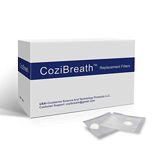 Foto de Cozibreath 12 Reemplazo Filtros (Ultra Defensa Máxima Nasales Filtros Series) Nariz Filtros Máscara (SIZE:L-Redondo)