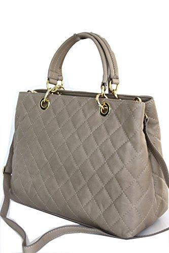 fashion-formel Classic, Borsa tote donna Marrone (Marrone)