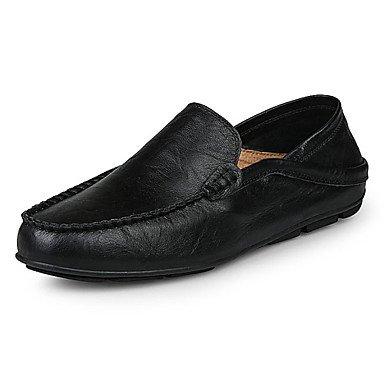 Chaussures d'hommes Office & Carrière / Trotteurs en cuir décontracté noir / bleu / marron Black