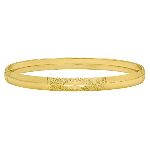 gold-plated-bangle-bracelet-w-starbursts-in-textured-sections-size-medium