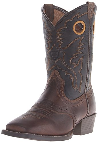 ck Western Cowboy Boot, Distressed Brown/Black, 4.5 M US Big Kid ()